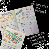 Multiply & Divide Integers - Decorated Notes Brochure for Interactive Notebooks