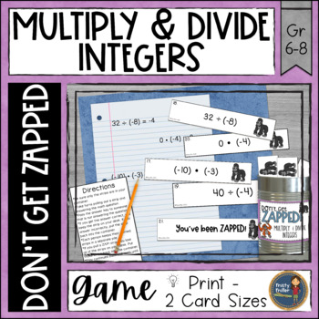 Multiplying and Dividing Integers Don't Get ZAPPED Math Game