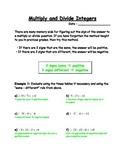 Multiply & Divide Integers