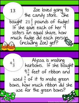 Multiply & Divide Mixed Numbers Word Problems - Math Scavenger Quest