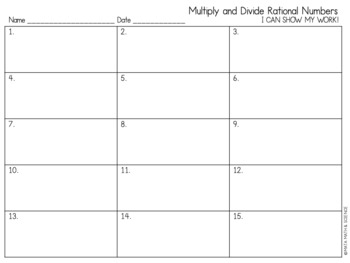 Multiply/Divide Rational Numbers: Mystery Picture (Super Mario Bros.)