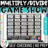 Multiply & Divide Whole Numbers Game Show PowerPoint Game