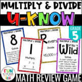 Multiply & Divide Whole Numbers Game | U-Know Review: 5th Grade 5.NBT.5, 5.NBT.6