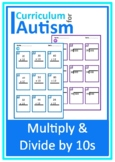 Multiply and Divide by 10s Worksheets Autism Special Education
