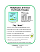 Multiply & Divide | MATH Task Cards| Early Finishers | FAC