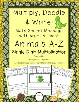 Multiply, Doodle and Write! Animals A-Z