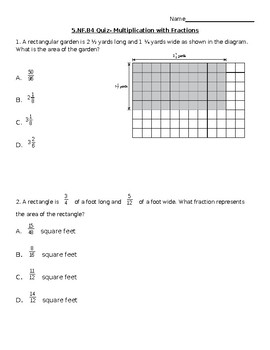 Multiply Fraction Quiz