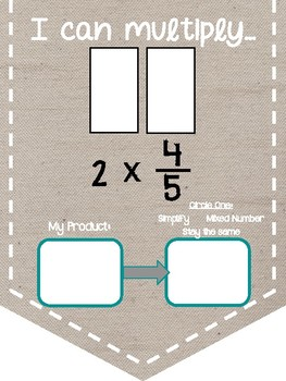 Multiply Fraction by Whole Number Banner