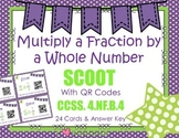 Multiply Fraction by a Whole Number Scoot with QR CODES  CCSS 4.NF.B.4