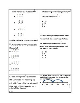 Multiply Fractions 4.NF.4 Study Guide