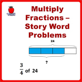 Fractions Worksheets, 4th Grade, 5th Grade - Multiplying Fractions Word Problems
