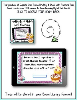 Multiply Fractions Boom Cards | Divide Fractions Boom Cards