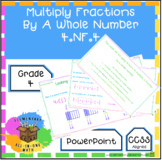 Multiply Fractions By A Whole Number - PowerPoint (4th Gra