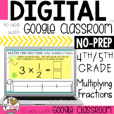 Multiply Fractions Digital Lesson to use with Google Classroom