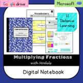 Multiply Fractions Digital Notebook (VA SOL 6.5ab) - Video