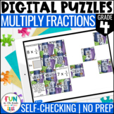 Multiply Fractions Digital Puzzles {4.NF.4} 4th Grade Math