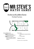 Multiply Fractions Game Snakes and Ladders Multiplication