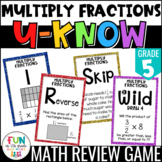 Multiply Fractions Game | U-Know Review Game {5th Grade 5.NF.4, 5.NF.5, 5.NF.6}