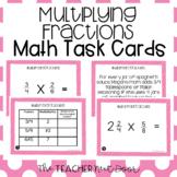 5th Grade Multiply Fractions Task Cards   Multiplying Frac