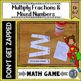 Multiplying Fractions and Mixed Numbers Don't Get ZAPPED Math Game