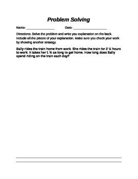 Problem Solving - Multiplying Fractions