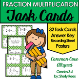 Multiplying Fractions Task Cards and Poster Set - Fraction Multiplication