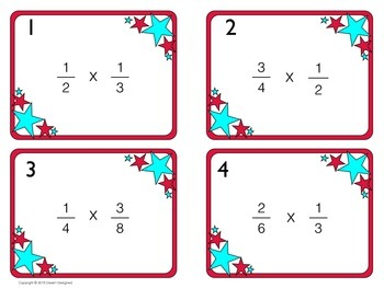 Multiply Fractions Task Cards