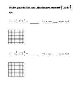 Multiply Fractions Test - Go Math 5th Grade Chapter 7