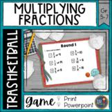 Multiplying Fractions Trashketball Math Game
