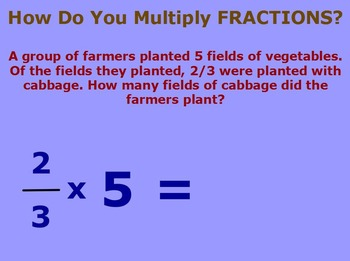 Multiply Fractions Flipchart: Unit and Non-Unit Fractions