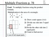Multiply Fractions and Mixed Numbers