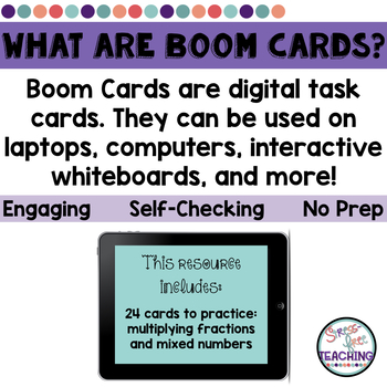 Multiply Fractions and Mixed Numbers - Boom Cards