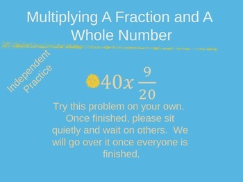 Multiply Fractions and Whole Numbers