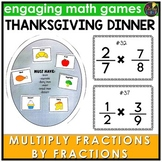 Multiply Fractions by Fractions Thanksgiving Game