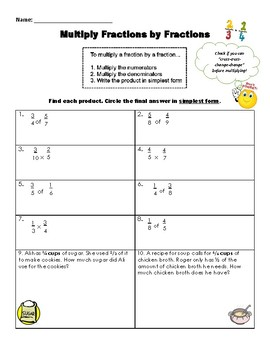 Multiply Fractions by Fractions Practice