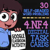 4.NF.4 Multiplying Fractions by Whole Numbers Word Problems for Google Classroom