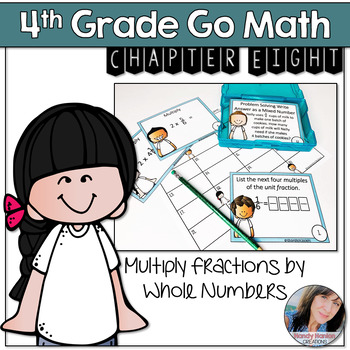 4th Grade Math Center Multiply Fractions by Whole Numbers Activity