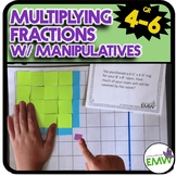 Multiply Fractions using Area or Array Models and Manipulatives Task Cards
