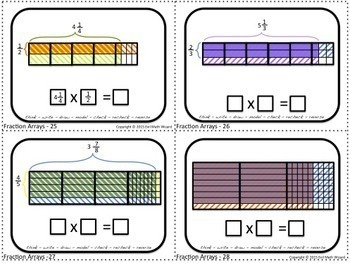 Multiply Fractions using Area or Array Models Task Cards - 5.NF.4