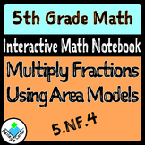Multiply Fractions with Area Models for Interactive Math Notebook