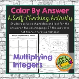 Multiply Integers Color By Answer