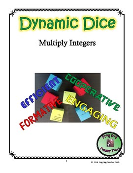 Multiply Integers Dynamic Dice