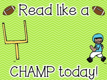 Read Like a Champ Poster
