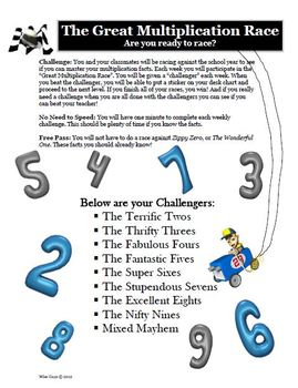 Multiplication Bundle of Activities for Entire School Year