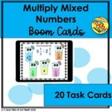 Multiply Mixed Numbers Boom Cards - Distance Learning