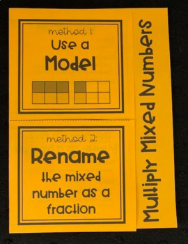 Multiply Mixed Numbers (Foldable)