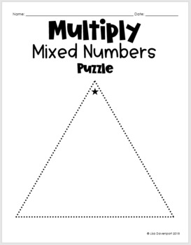 Multiply Mixed Numbers (Mini Puzzle)