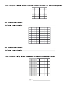 Multiply Mixed Numbers Using Area Models (with Grid Squares)