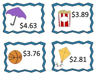 Multiply Money Amounts Over $1.00--Centers and Worksheets