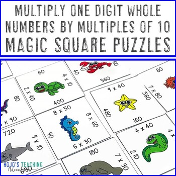 Multiply One Digit Whole Numbers by Multiples of Ten Math